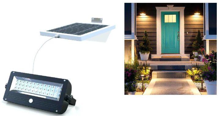 Освещение придомовой территории светодиодными светильниками на солнечных батареях