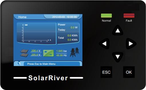 Дисплей инвертора SolarLake SL 10000TL-PM