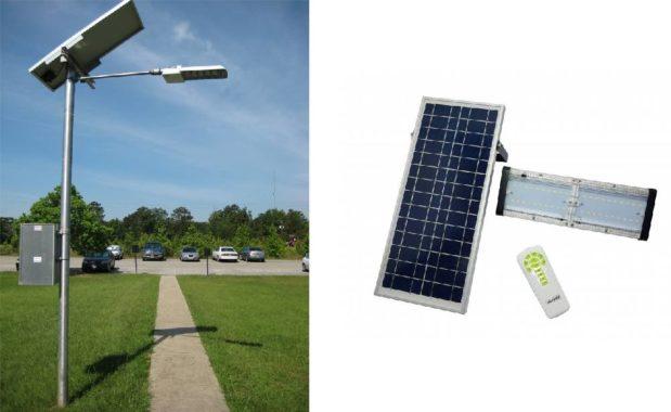 изготовим уличный прожектор на солнечной батареи с пультом ПДУ