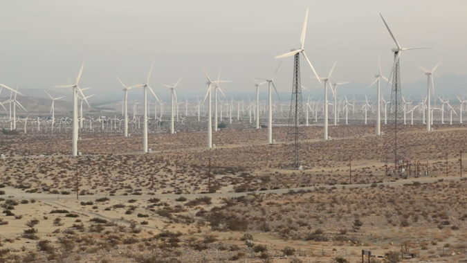 ветростанция в Калифорнии San Gorgonio Pass