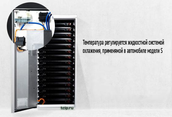 Система поддержания температуры в Tesla PowerPack