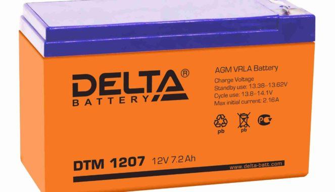 тяговый аккумулятор VRLA для мототехники Delta DTM 1207 7Ач