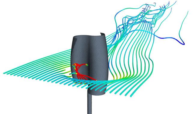 взаимодействия ветра и ветрогенератора турбинного типа