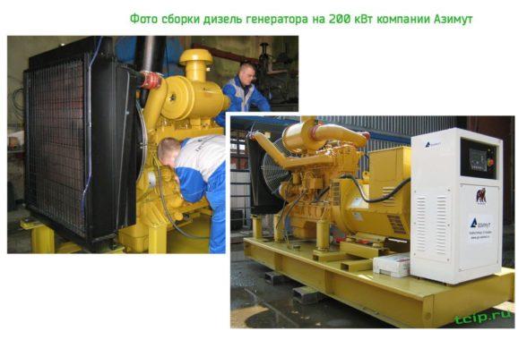 Дизельная электростанция 200 кВт компании Азимут АД 200-Т400