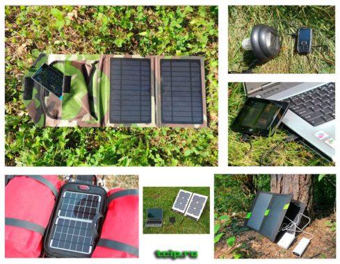 Походные солнечные панели для зарядки телефонов