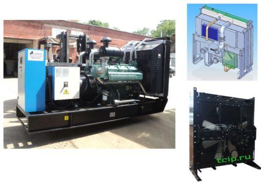 Радиаторы медно-алюминевые установленные на дизель генераторе Perkins