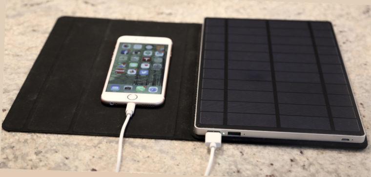 Солнечное зарядное устройство SolarTab 5,5 Вт с аккумулятором на 13,000mAh