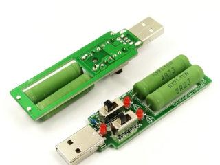 Нагрузочный USB резистор с переключателем на 1А/2А/3А