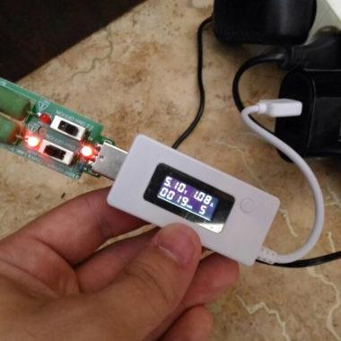Нагрузочный USB резистор для проверки аккумуляторов и power bank