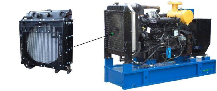 радиатор для подключения вентилятора для воздушного охлаждения ДГУ