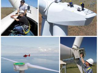 Ремонт и обслуживание ветряных электрогенераторов