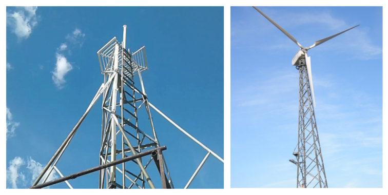 Мачта для ветрогенератора конические, секционные