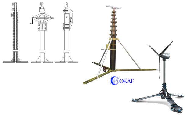 Телескопические мачты для ветрогенераторов