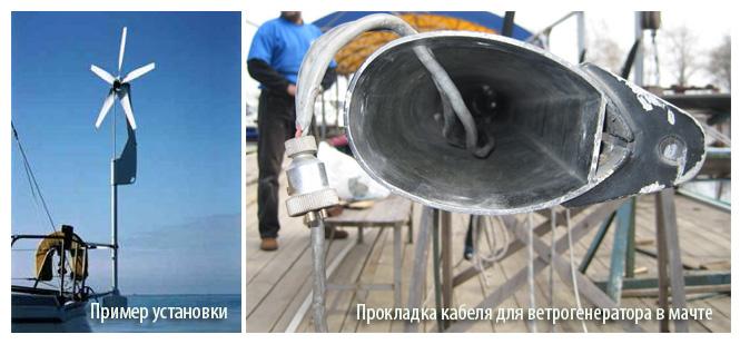 Места установок ветрогенератора для катеров и яхты