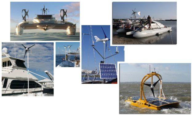 места размещения ветрогенераторов на яхтах