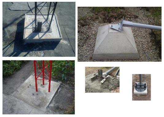 опоры фундаментные для установки ветрогенераторов