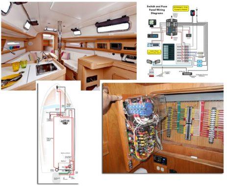 вариант электроподключения электропроводки на яхте