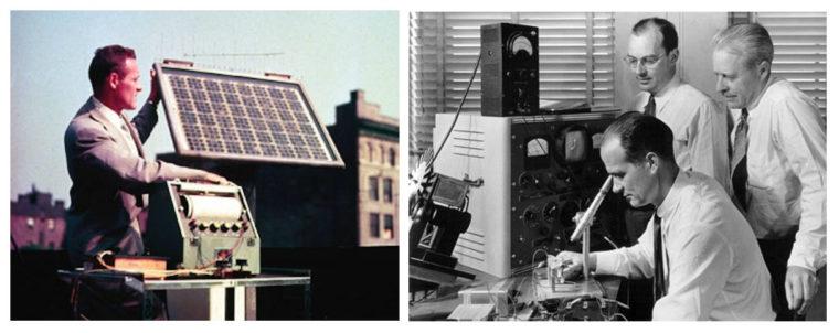 Создатели и первые солнечные батареи
