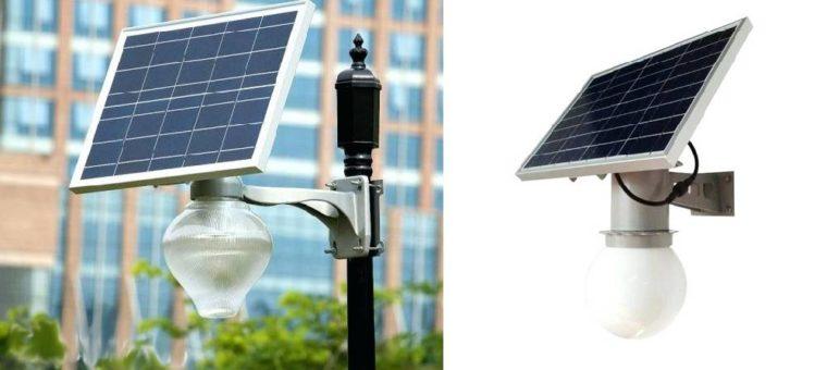 парковые светильники на солнечной батареи с датчиком движения